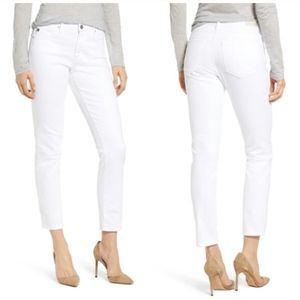 AG Jeans The prima mid-rise cigarette white jeans